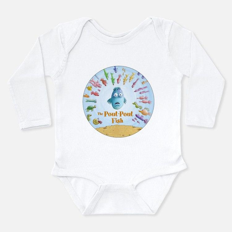 Cute Center Long Sleeve Infant Bodysuit
