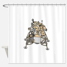 Lunar Module Shower Curtain