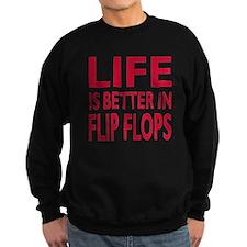 Life Is Better In Flip Flops Block Print Red Sweat