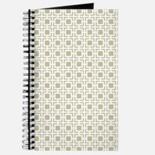 Beige Geometric Lattice Pattern Journal