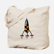 Cartoon Rocket Tote Bag