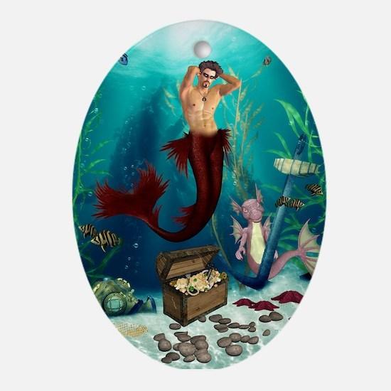 Best Seller Merrow Mermaid Ornament (Oval)