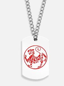 Shotokan Red Tiger Dog Tags