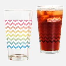 Chevron Rainbow Waves Drinking Glass
