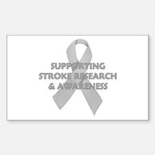 ...Stroke Research... Rectangle Decal