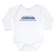 Cute World greatest mom Long Sleeve Infant Bodysuit