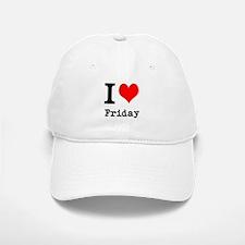 I Love Friday Baseball Baseball Baseball Cap