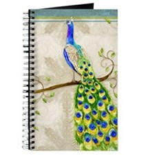 Peacock n Tail Feathers Baroque Lace Water Journal