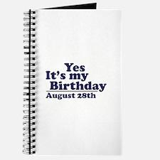 August 28 Birthday Journal
