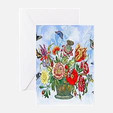 Nature's Rhapsody Merian Flowers Greeting Cards