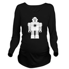 Robot 3 Long Sleeve Maternity T-Shirt