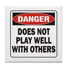Play Well Tile Coaster