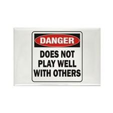 Play Well Rectangle Magnet (100 pack)