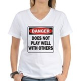 Does not play well with others Womens V-Neck T-shirts
