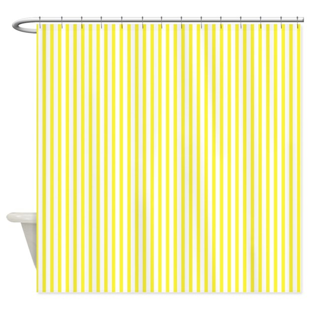 Thin Yellow Stripes Shower Curtain By ShowerCurtainsWorld