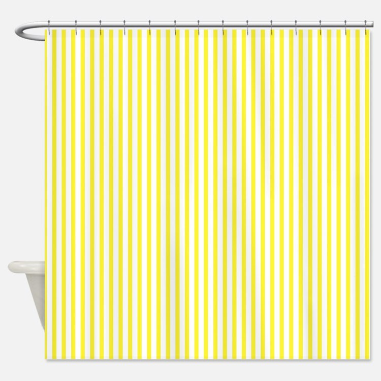 Thin yellow stripes Shower Curtain