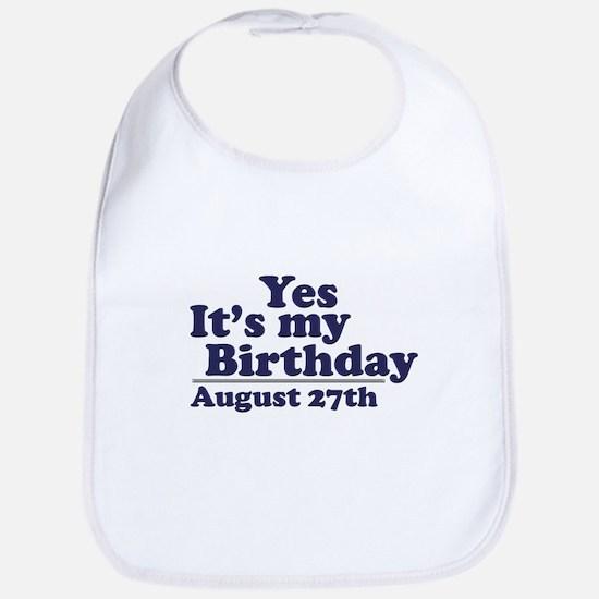 August 27 Birthday Bib