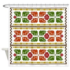 Menominee Leaves Shower Curtain