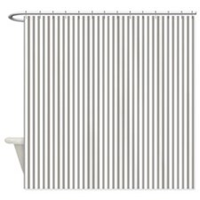 Thin gray stripes Shower Curtain