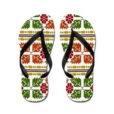 Menominee Leaves Flip Flops