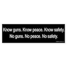 Know Guns Bumper Bumper Sticker