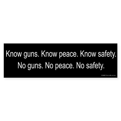 Know Guns Bumper Sticker
