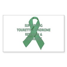 ...Tourette`s Research... Rectangle Decal