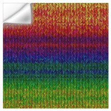 Rainbow Knit Photo Wall Art Wall Decal