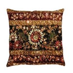 Beaded Indian Saree Photo Master Pillow