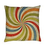 Psychedelic Retro Swirl Master Pillow