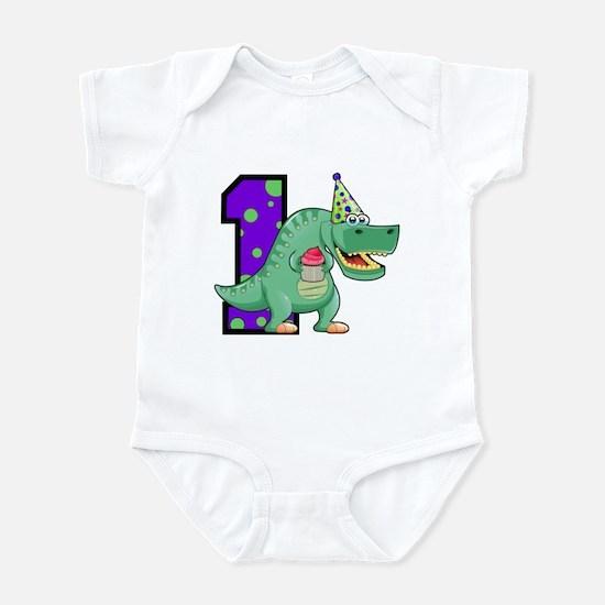 1st Birthday T-Rex Infant Bodysuit