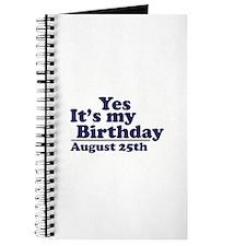 August 25 Birthday Journal