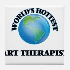 World's Hottest Art Therapist Tile Coaster