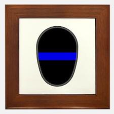 Blue Line LAPD Framed Tile