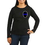 Blue Line LAPD Women's Long Sleeve Dark T-Shirt