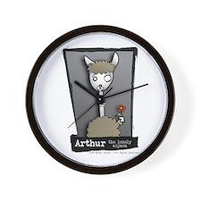 Arthur the Lonely Alpaca Wall Clock