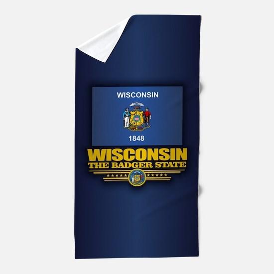 Wisconsin (v15) Beach Towel