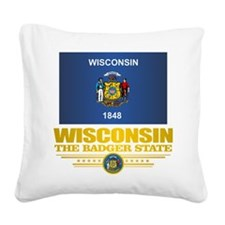 Wisconsin (v15) Square Canvas Pillow