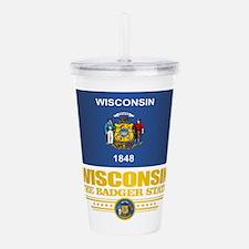 Wisconsin (v15) Acrylic Double-wall Tumbler
