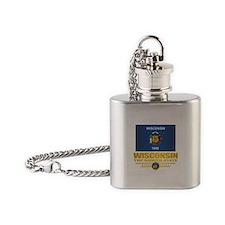 Wisconsin (v15) Flask Necklace