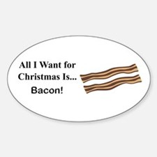 Christmas Bacon Sticker (Oval)