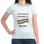 Christmas Bacon Jr. Ringer T-Shirt