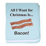 Christmas Bacon baby blanket