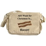 Christmas Bacon Messenger Bag