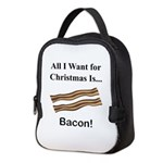 Christmas Bacon Neoprene Lunch Bag