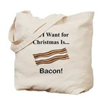Christmas Bacon Tote Bag