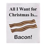 Christmas Bacon Throw Blanket