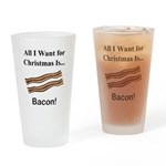 Christmas Bacon Drinking Glass