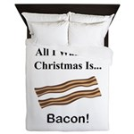 Christmas Bacon Queen Duvet