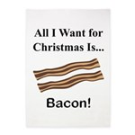Christmas Bacon 5'x7'Area Rug